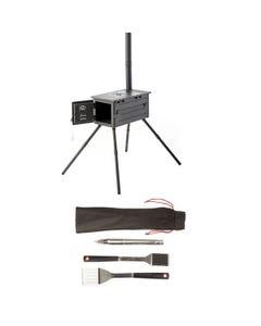 Premium Camp Oven Stove + BBQ Tool Set
