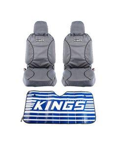 Kings Universal Premium Canvas Seat Covers (Pair) + Sunshade