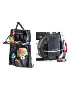 Kings Premium 48L Dirty Gear Bag + Premium Car Seat Organiser with Folding Table