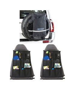 Kings Premium 48L Dirty Gear Bag + 2x Car Seat Organiser
