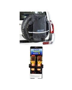 Kings Premium 48L Dirty Gear Bag + Hercules Heavy Duty 3m Ratchet Strap (2 pack)