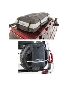 Adventure Kings Premium Waterproof Roof Top Bag + Premium 48L Dirty Gear Bag