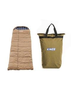 Premium Sleeping bag -5°C to 5°C Degrees Celsius Right Zipper + Doona/Pillow Canvas Bag