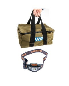 Adventure Kings Canvas Recovery Bag + LED Head Torch