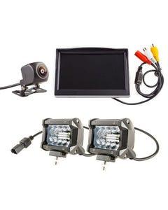 "Adventure Kings Reverse Camera Kit with 5"" Screen + 4"" LED Light Bar"