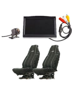 """Adventure Kings Reverse Camera Kit with 5"""" Screen + Heavy Duty Seat Covers"""