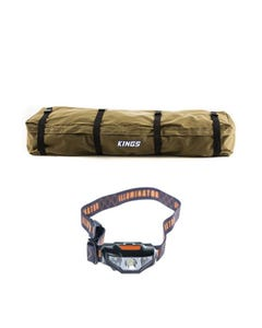 Roof Top Canvas Bag + Kings LED Head Torch