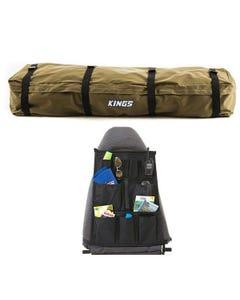 Roof Top Canvas Bag + Car Seat Organiser