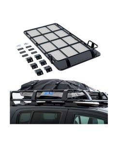Roof Top Tent Racks + Half-Length Premium Waterproof Rooftop Bag