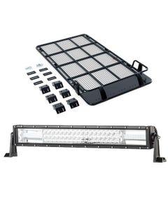"Roof Top Tent Racks + Domin8r 22"" LED Light Bar"