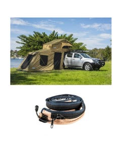 Adventure Kings Roof Top Tent + 6-man Annex + LED Strip Light