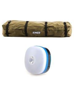 Roof Top Canvas Bag + Adventure Kings Mini Lantern