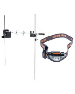 Adventure Kings Camping Rotisserie + LED Head Torch