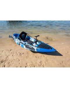 KINGS Single Seat Kayak ADVENTURER Package   Includes 2.85m Hull, Standard Paddle, Padded Seat, Middle & Side Rod Holder & Fish Finder Mount
