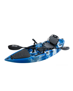 KINGS Single Seat Kayak ADVENTURER Package   Includes 2.85m Hull, Carbon Fibre Paddle, Premium Padded Seat, Middle & Side Rod Holder & Fish Finder Mount