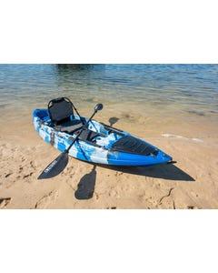 KINGS Single Seat Kayak PIONEER Package   Includes 2.85m Hull, Carbon Fibre Paddle & Premium Padded Seat