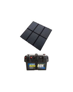 Adventure Kings 200W Solar Blanket with MPPT + Battery Box