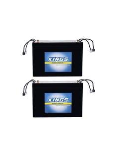 2x Adventure Kings AGM Deep Cycle Battery 98AH