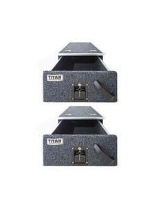 2x Titan Single Drawer 900mm