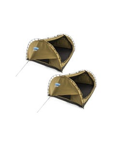 2x Kings Big Daddy Deluxe Double Swags   Swag Tent   Camping Swag