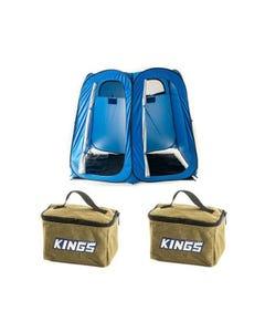 2x Adventure Kings Toiletry Canvas Bag + Double Ensuite/Shower Tent