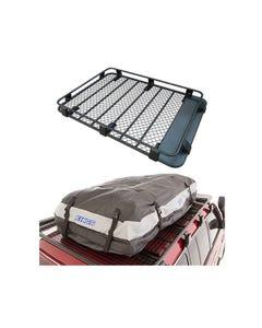 Steel Roof Rack 3/4 Length + Adventure Kings Premium Waterproof Roof Top Bag