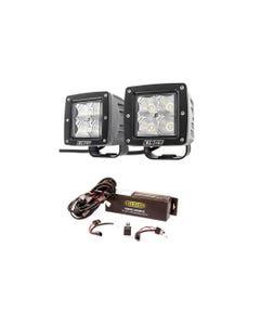 "Adventure Kings 3"" LED Work Light - Pair + Wiring Harness"