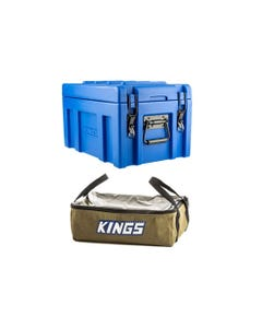 Kings 45L Tough Front Opening Storage Box + Clear Top Canvas Bag