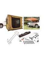 Adventure Kings Awning 2x3m + Awning Tent 2x3m + Orange LED Camp Light Extension Kit + Illuminator 4 Bar Camp Light Kit