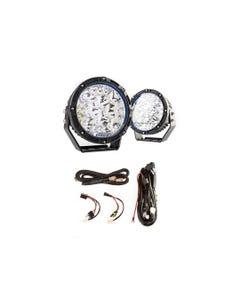"Adventure Kings 7"" Lethal LED Driving Lights (Pair) + Plug N Play Smart Wiring Harness Kit"