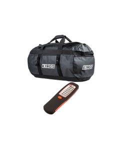 Kings 80L Extra-Large PVC Duffle Bag + LED Work Light