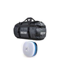 Kings 80L Extra-Large PVC Duffle Bag + Mini Lantern