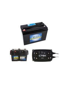 Adventure Kings AGM Deep Cycle Battery 115AH + Battery Box + CTEK D250SE DC/DC 20A Dual Battery System