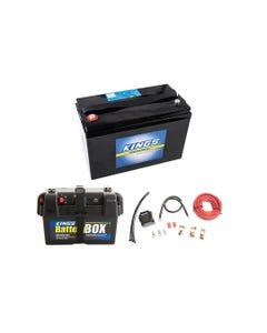 Adventure Kings AGM Deep Cycle Battery 115AH + Battery Box + Dual Battery System