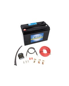 Adventure Kings AGM Deep Cycle Battery 115AH + Dual Battery System