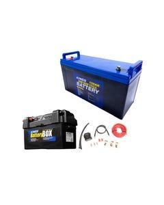 Adventure Kings 138Ah AGM Deep-Cycle Battery + Maxi Battery Box + Dual Battery System