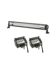 """Adventure Kings Domin8r 32"""" LED Light Bar + 4"""" LED Light Bar"""