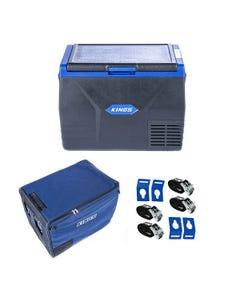 Kings 65L Fridge / Freezer + 65L Fridge Cover+ Portable Fridge Tie-Down Kit (4-Pack)