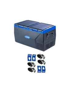 Kings 75L Dual Zone Fridge / Freezer + Portable Fridge Tie-Down Kit (4-Pack)
