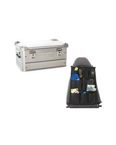50L Aluminium Storage Box + Car Seat Organiser