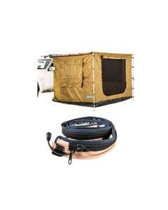 Adventure Kings 2.5 x 2.5m Awning Tent + LED Strip Light