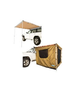 Adventure Kings Awning 2.5x2.5m + Adventure Kings Awning Tent 2.5 x 2.5m