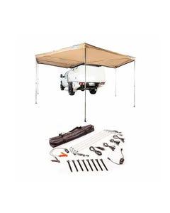 King Wing Deluxe 270° Wrap-Around Awning + Illuminator 4 Bar Camp Light Kit