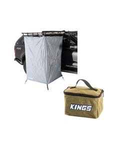 Kings Instant Ensuite Awning Shower Tent + Kings 400GSM Canvas Toiletry Bag