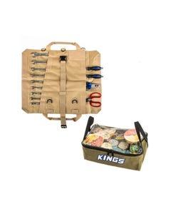 Adventure Kings Clear Top Canvas Bag + Adventure Kings Premium Tool Roll