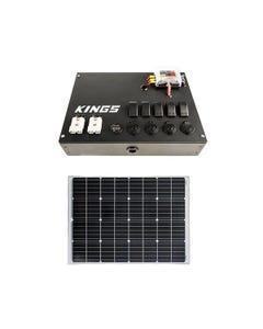 12V Control Box + Adventure Kings 110w Fixed Solar Panel