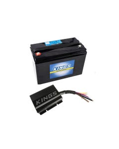 Adventure Kings 20AMP DC-DC Charger + AGM Deep Cycle Battery 115AH