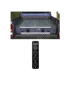 1300mm Titan Drawer System Suitable for Utes + Wings For 1300mm Titan Drawers + Adventure Kings 12V Accessory Panel