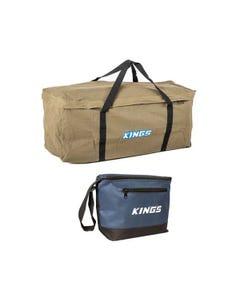 Deluxe Single Swag Premium Canvas Bag + Kings 8L Cooler Bag