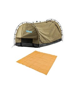 Kings Deluxe Escape Single Swag + Mesh Flooring 3m x 3m